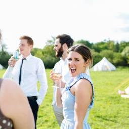 Glamping wedding Wildwood Bluebells
