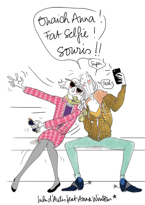 Wintour selfie - Lulu d'Ardis