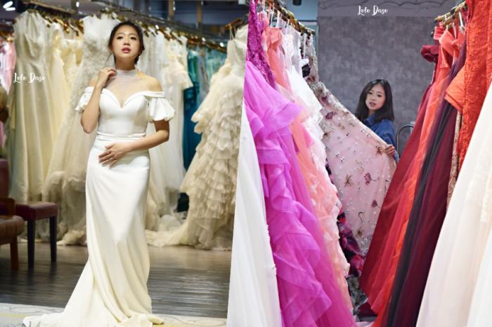 伊頓自助婚紗 西門旗艦店|結婚週年紀念婚紗&全家福:婚紗試穿紀錄