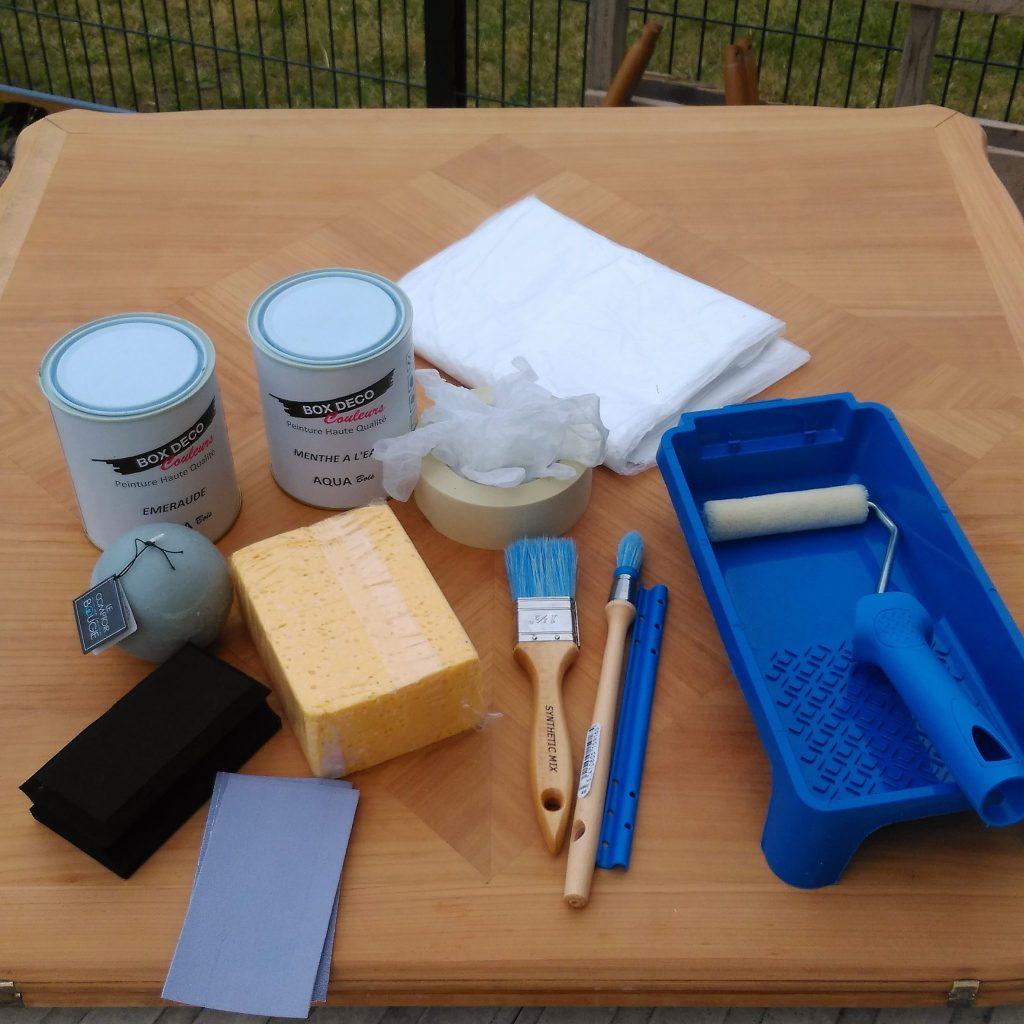 super relooking : ma table change de look avec la box déco couleur -