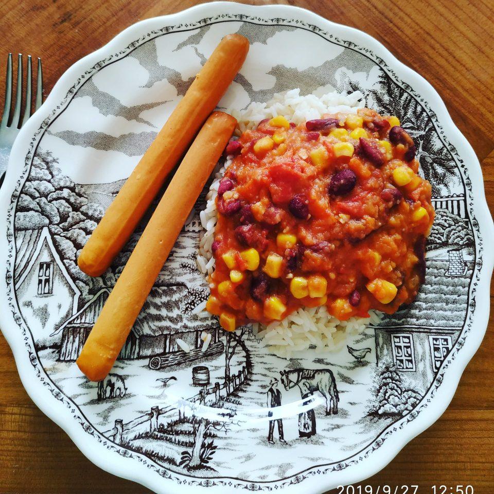mange - chili sin carne