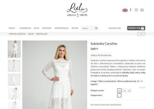 bfb00b25ef Cena Sukienki Caroline została obniżona o rabat z okazji Dnia Kobiet czyli  o 10% i kosztuje 512 zł – czyli 57 zł taniej!