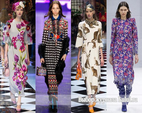 Модные платья осень-зима 2016-2017 года фото из коллекций