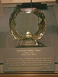 American Golden Topaz, the largest faceted gem in the world