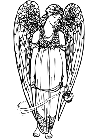 Angel-2 Free coloring page