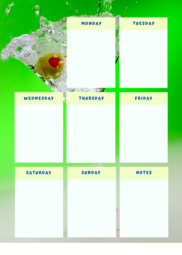Martini - Weekly Planner
