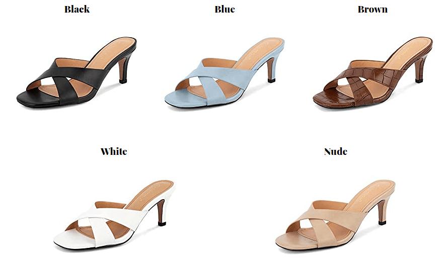 Greatonu Square Toe Sandal