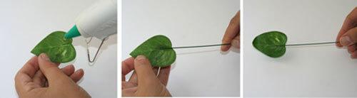 Листья для букета из конфет