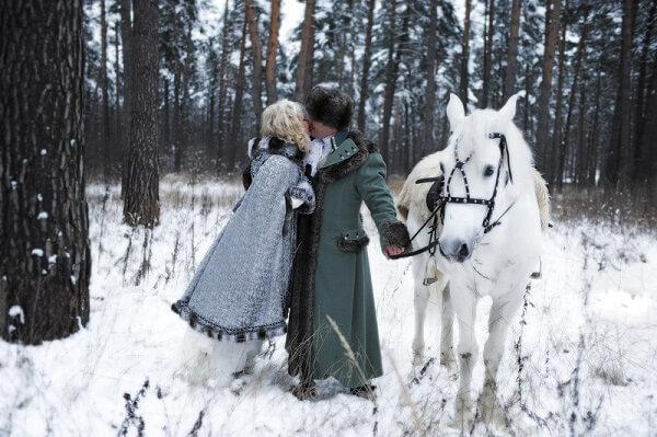 Фотосъемки зимней свадьбы