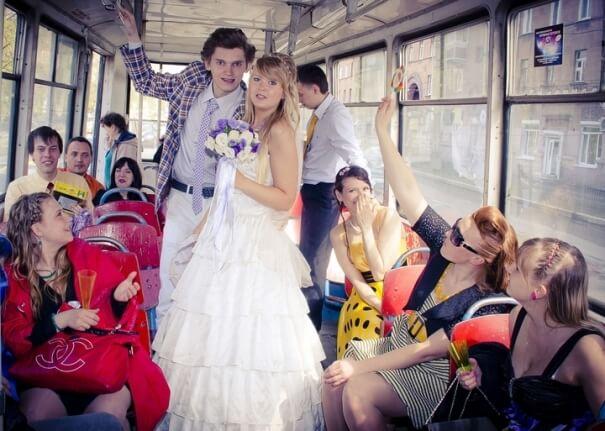 свадебный транспорт в стиле стиляги
