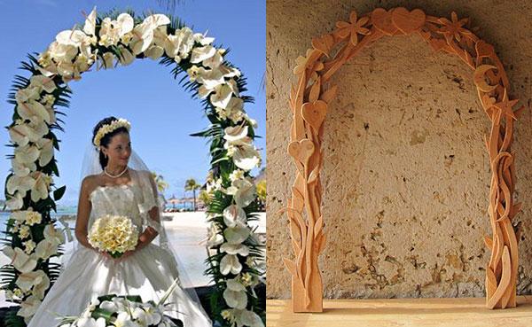 необычные свадебные арки из цветов