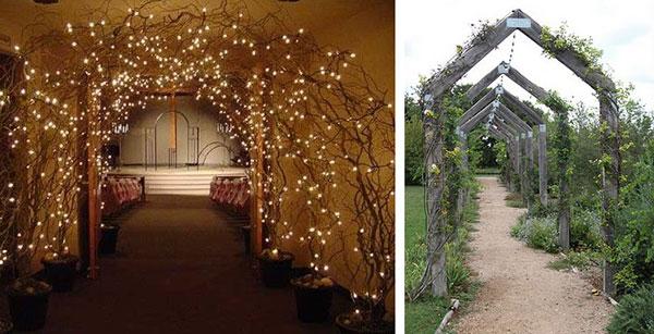 красивая свадебная арка анфилада
