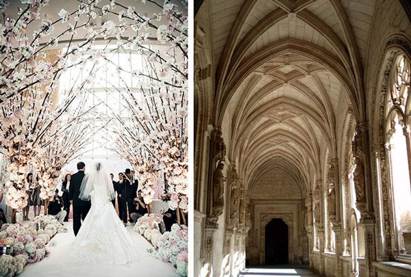 Свадебная арка в форме анфилады
