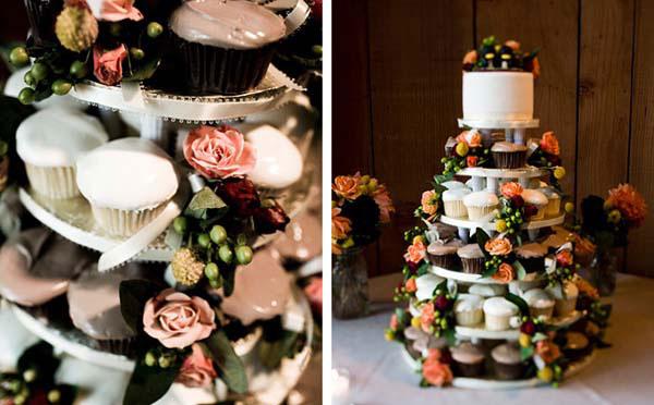 свадебный торт из пирожных фото