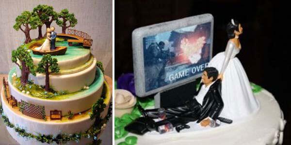 забавные свадебные торты