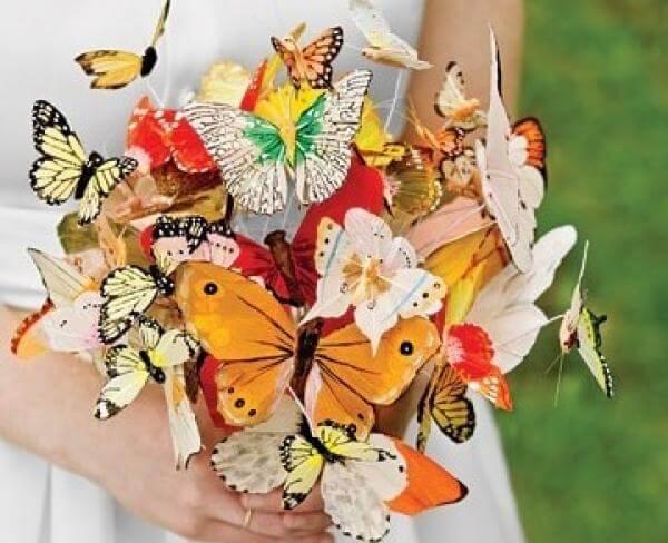 Букет-бабочки на свадьбу
