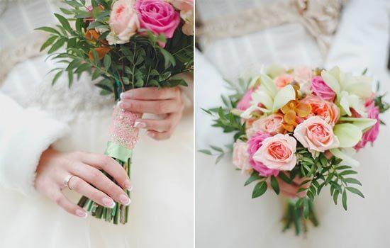 Свадебные букеты своими руками фото из роз