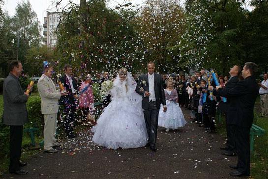 свадебный дождь из конфет