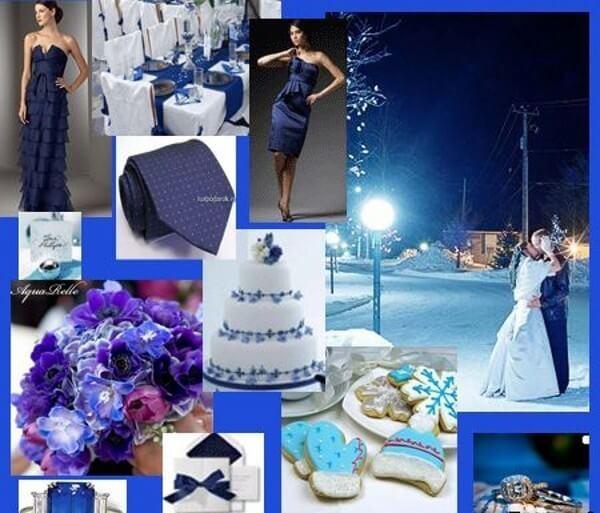 Синий букет - свадьба в синих тонах
