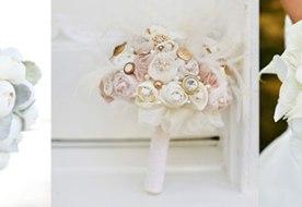Свадебные букеты белые: фантазии невесты в светлых тонах