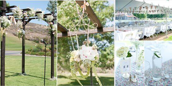 Свадебный декор винтажный на природе