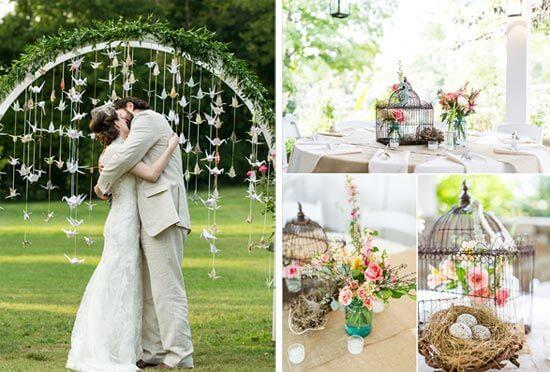 Винтажная свадьба на природе