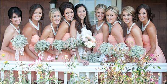 Платья для подружек невесты в пастельных тонах