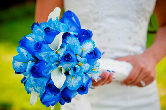 сине-голубой букет