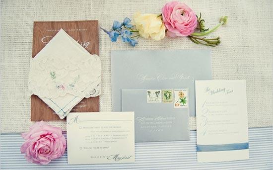Свадебные приглашения в нежных тонах