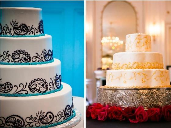 Золотой торт в индийском стиле