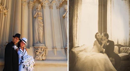 Невеста в ретро образе з0-х годов