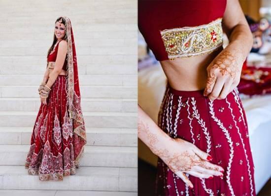 Как одевают свадебное индийское платье