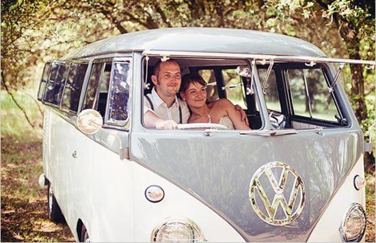 Свадебный автобус для винтажной свадьбы