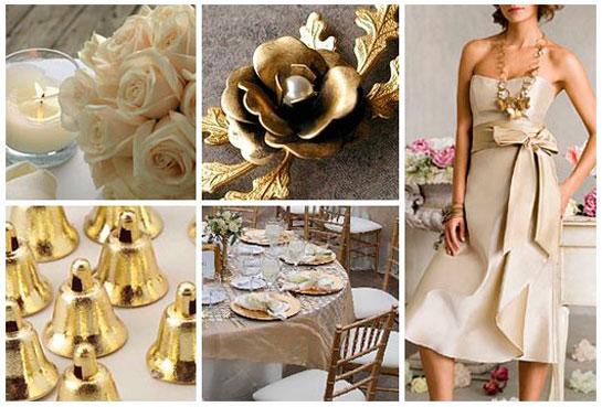 идеи для свадьбы в золотом стиле