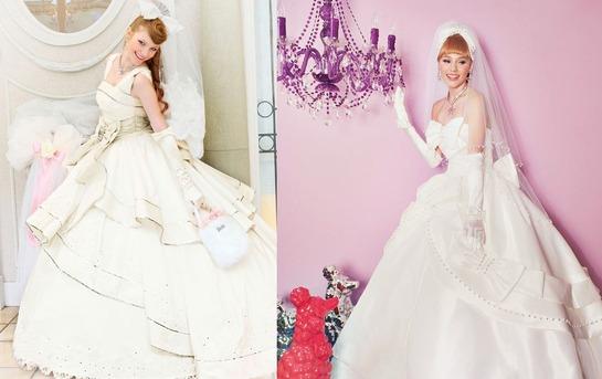 Белые свадебные платья в стиле Барби
