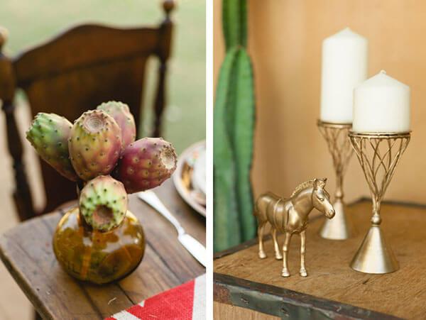 Стильное оформление свадебного стола в ковбойском стиле