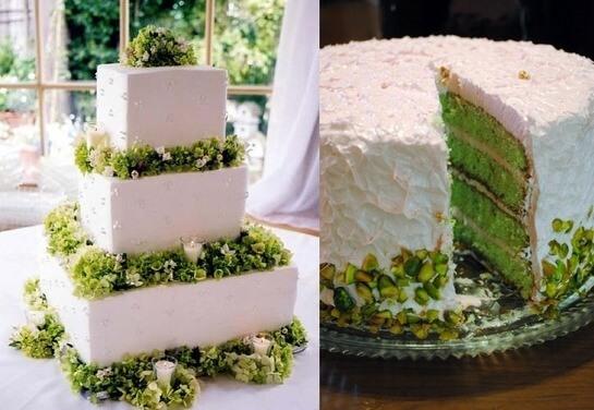 Торты в стиле зеленой свадьбы