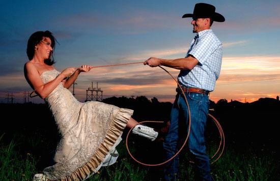 Веселье на ковбойской свадьбе