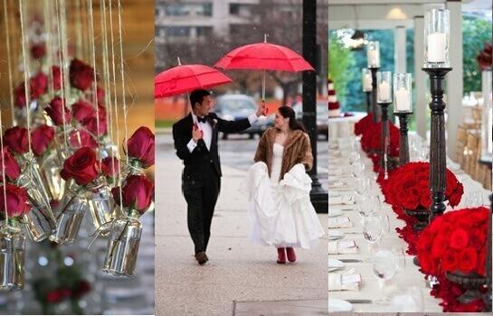 Свадьба в красном стиле для романтичных натур