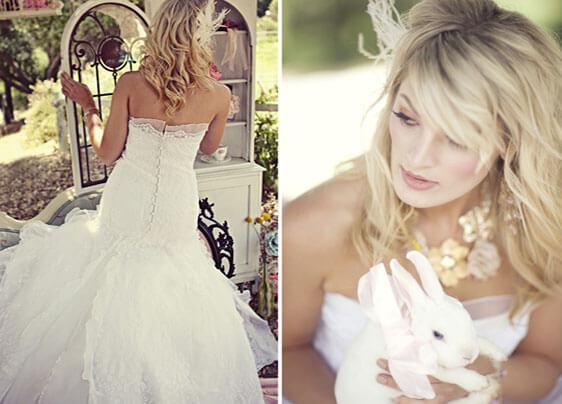 Невеста в стиле Алисы в стране чудес