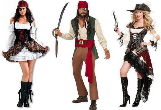 Одежда для гостей свадьбы в пиратском стиле