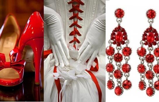 Наряд для невесты на свадьбе в красном стиле