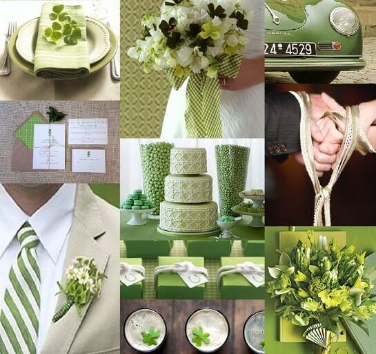 Свадьба в зеленом стиле - коллаж