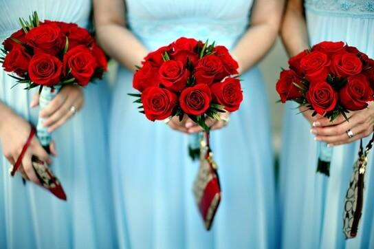 букеты из красных роз