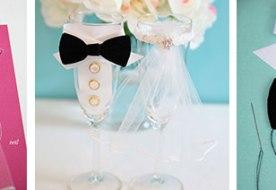 Свадебные бокалы своими руками: жених и невеста