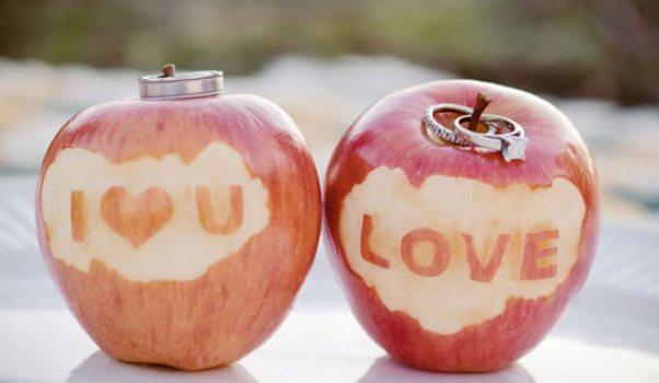 Яблоки как декор свадьбы