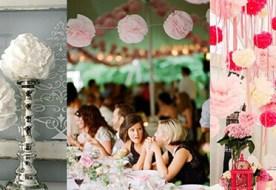 Помпоны из бумаги своими руками на свадьбу: стильно и бюджетно