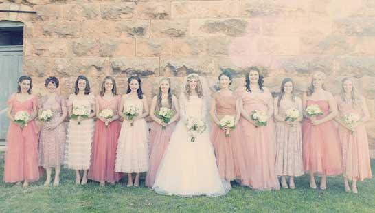 Подружки невесты: винтажный образ