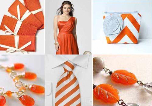 свадебные оранжевые аксессуары