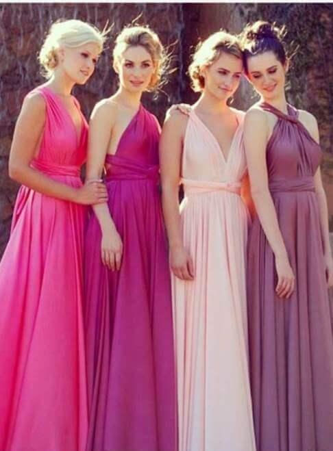 длинные платья подруг невесты